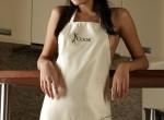 Nastia - dark eyed beauty posing in the kitchen