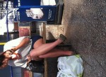 on my travels in manchester uk, girls with great legs