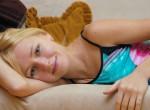 Thin barefeet blonde model Anna