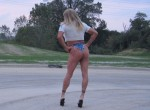 Raquel St.Clair Blondie Trouble in Daisy Dukes