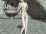 Petite shy elf unlaces to nude status