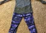 Ebony Candids of Family friend in purple yoga pants outside
