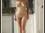 Nude, Nudist Standing Home Naked