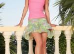 Suzie Carina-Flower dress on balcony