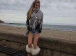 British Chav Slag with amazing legs - loves slutwear