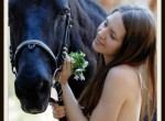 Nude girl love horses HQ