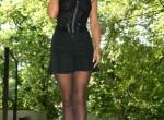 Sabrina - German blonde in black seamless pantyhose