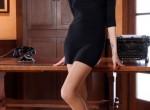 Kris {OER-OFF} in tan seamless pantyhose