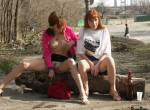 Elena & Ludmila-We Like to be Lesbians sisters in Extremely Publ