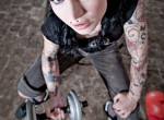 Carlin - Kittecat - Muscle Bitches-SuicideGirls tatoo Pale emo t