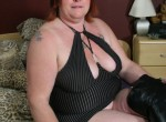 Gaby - This big mama loves riding her dildo