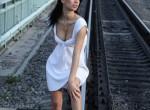 Magda Palesa - topless outdoor