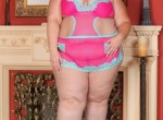 Erin Green - cute pink and blue lingerie
