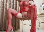 Mia - Red Stockings