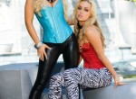 Kayden Kross and Jaclyn Case showing off their tight bodies