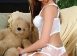 Tiffany Holiday getting naked with her teddy bear
