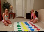 Tiffany and Tatyana - blonde teens playing Twister