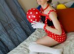 Cute babe in mouse outfit