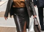 Gilf in Leather Business Suit
