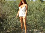 redhead babe outdoor