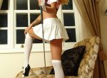 Gemma Hiles Riding Outfit White Stockings Non-nude
