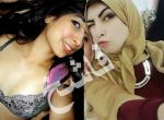 egyptian hijab sharameet with and withour hijab