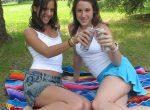 Melissa Doll and Jinny Heaven lesbian picnic