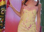 Melissa Doll using a pink dildo